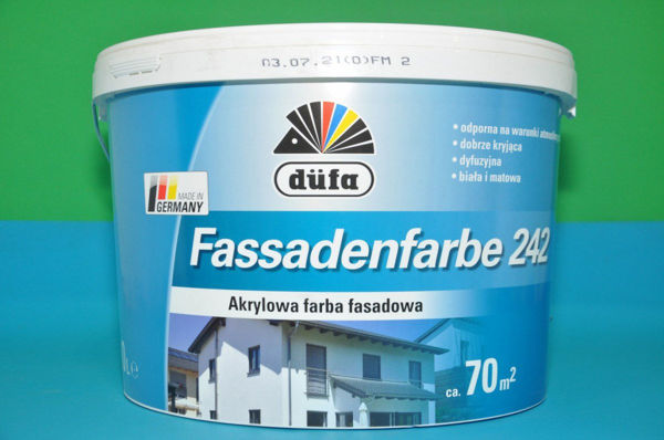 Obrazek FARBA 10L.FASSADENFARBE 242 Dufa