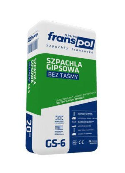 Obrazek FRANSpol GIPS SZPACH. 20kg /ziel. GS-6