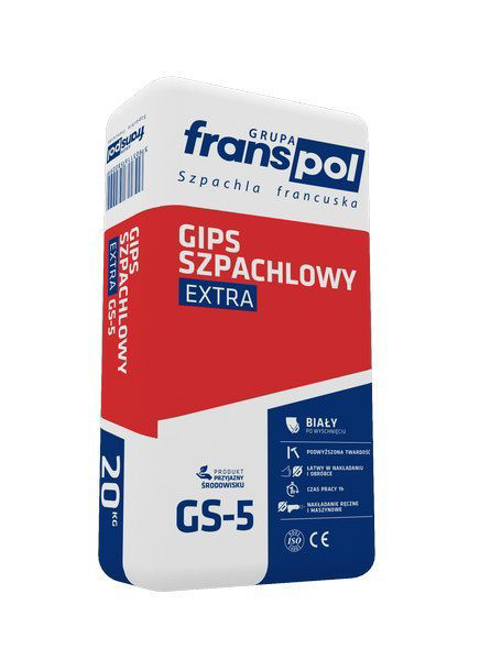 Obrazek FRANSpol GIPS SZPACHLO.Ex 20KG czerw. GS-5