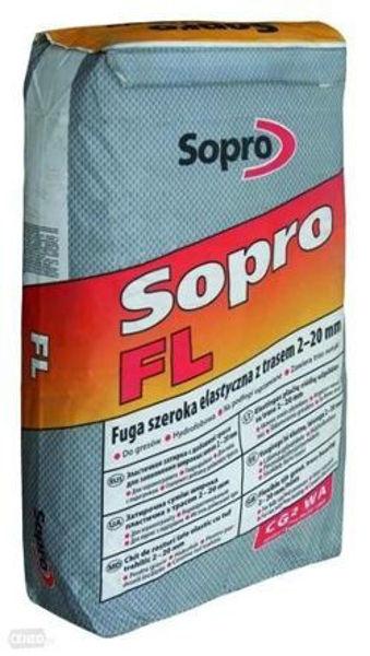 Obrazek Fuga FL z trasem 2-20mm 25kg bet-szara SOPRO /529/