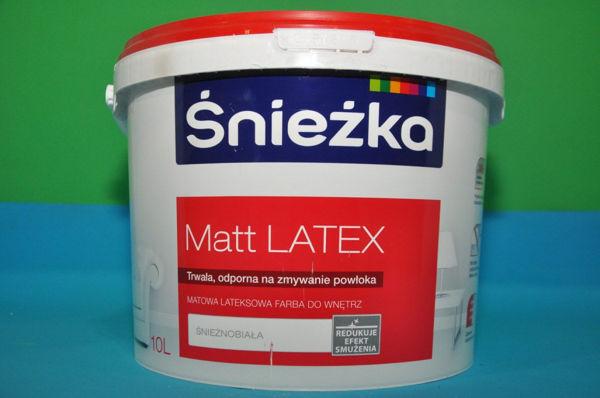 Obrazek MATT LATEX ŚNIEŻKA BIAŁA 10L