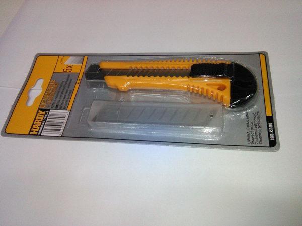 Obrazek Nóż 18mm ŁAM.z ostrzami x5
