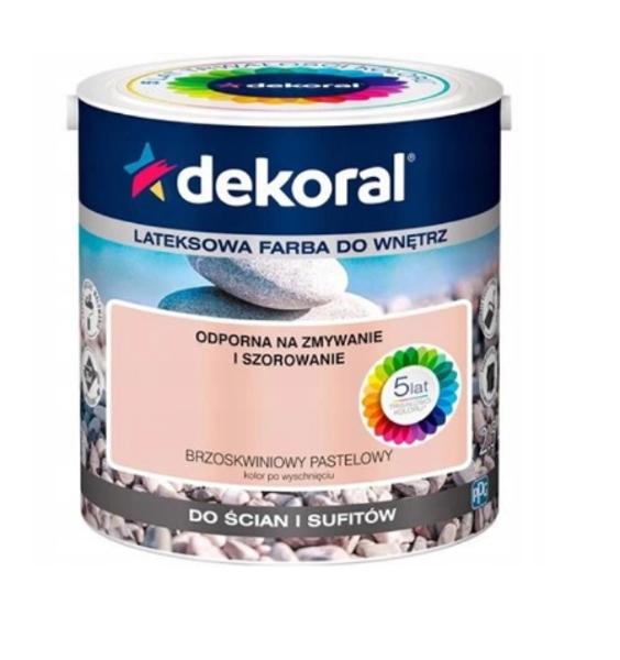 Obrazek Dekoral Akrylit W Brzoskwiniowy pastelowy 2,5l