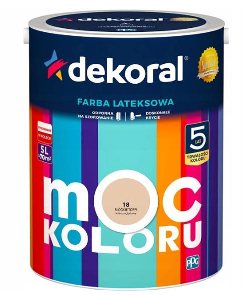 Obrazek Dekoral Akrylit W Słodkie Toffi 5l