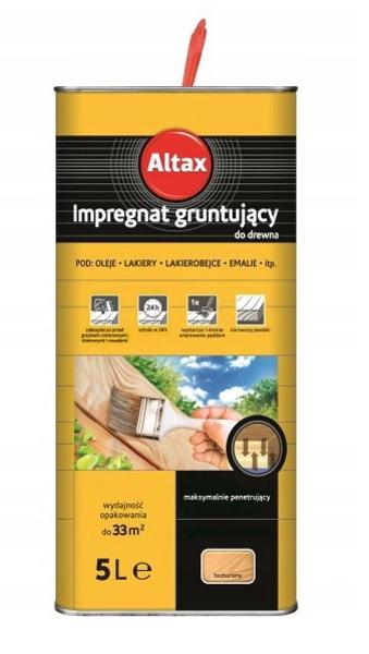 Obrazek Altax  Impregnat do drewna Gruntujący Bezbarwny 5L