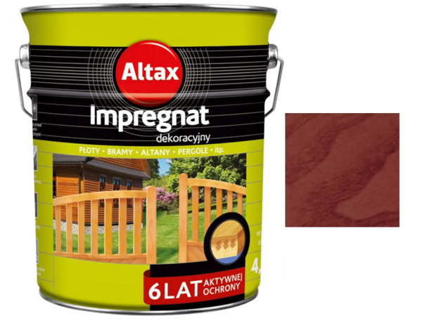 Obrazek Altax Impregnat Dekoracyjny  Merbau 4,5l
