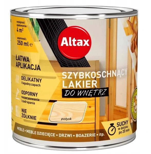 Obrazek Altax Szybkoschnący Lakier 0,25 połysk