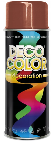 Obrazek Deco Color Decoration lakier w sprayu Jasny Brąz Ral 8004