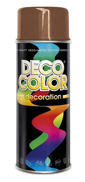 Obrazek Deco Color Decoration lakier w sprayu Jasny Brąz Ral 8003