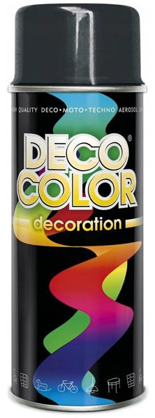 Obrazek Deco Color Decoration lakier w sprayu Antracyt Ral 7016