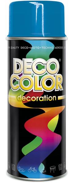 Obrazek Deco Color Decoration lakier w sprayu Niebieski Ral 5015